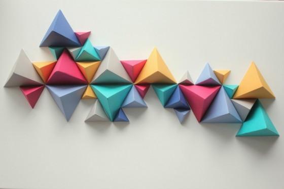 arte e stress, sculture di carta